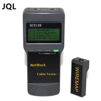 Wholesale Lcd Rj45 Cable Tester - FREE SHIPPING SC8108 Portable LCD Wireless Network Tester Meter&LAN Phone Cable Tester & Meter With LCD Display RJ45