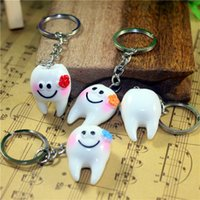 Wholesale Tooth Keyrings - hot selling Fashion accessories Keyring tooth teeth dental keychain for promotion gift free shipping DHL wa3932