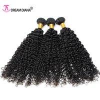 Wholesale Cheap Good Mongolian Hair - Brazilian Curly Virgin Hair 3 Bundles Cheap Brazilian Kinky Curly Hair Weaves Natural Color Virgin Curly Human Hair Extension Good Quality