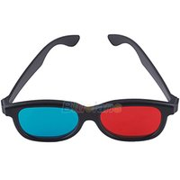 Wholesale Red Cyan D Glasses - Wholesale- Blue Red Cyan Plastic Framed 3D Glasses 3 D Dimensional
