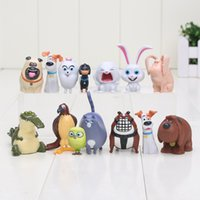 Wholesale Action Buddy - 3-7cm 14pcs lot The Pets Snowball Mel Chloe Buddy Dog Mini PVC Action Figure Model Toys Doll for kids Gifts