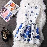 Wholesale Skater Dress Patterns - Casual Sleeveless Print Floral A-Line Swing Short Skater Dress Jumper Pinafore Pattern Graphic Party Evening Cocktail Prom Dresses