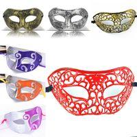 cavaleiros plásticos venda por atacado-Máscaras de baile de máscaras de natal do dia das bruxas fancy dress metade do rosto de plástico máscara do partido cavaleiro prince máscaras presentes do carnaval wx9-74