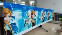 Wholesale Tablecloth Setting - Wholesale-108x180cm  set Ice&Snow Tablecloth Cartoon Theme Party For Kids Girls Happy Birthday Decoration Theme Party Supply Xmas Festival
