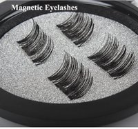 Wholesale Individual False Eyelashes Kits - NO Glue Required!Permanent Magnetic Eyelash Individual Eyelash Extension kit 3D Mink Reusable False Magnet 4 Pieces Magnetic Eyelashes