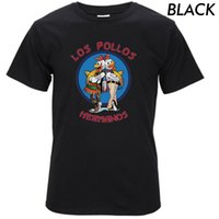 Wholesale Los Pollos Hermanos T Shirt - Los Pollos Hermanos T Shirts Men Chicken Brothers Man T-shirts Sitcoms Short Sleeve O Neck Cotton Shirts Rock Brand Clothing T03