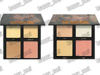 Wholesale Glowing Effects - Factory Direct Free Shipping New Makeup High Quality 3D Highlighter Glow Highlighter Bronzers Palette 4 Colors Powder!Box With 3 D Effect