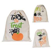 indoor christmas decoration cloth none halloween sacks halloween bag pumpkin trick or treat bags canvas spider