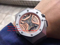 Wholesale Kinder Watch - latest version High Quality Dynamic display Chronograph 47mm Three kinds color NEW Offshore watch Japanese quartz movement Mens Watches