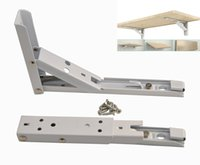 Wholesale Shelf Loading - 8 Inch Folding Spring Loaded Supports Wall mount Support Shelf Bracket Undermount Sinks,Microwave, Beds and Other Furniture