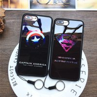 Fashion Brand Mirror Skin Superman Capitaine Housse de protection Soft TPU iPhone pour iPhone 6 6S Plus 7 7 Plus Capa Coque Funda