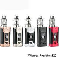 Nova chegada !!! WISMEC Predator 228 com Elabo Kit Vaper 4.9mle-liquido novo Box Mod 510 Thread by Replaceable Vs RX2 / 3 wismec kit