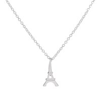 Wholesale Stylish Pendants For Men - SMJEL New Stylish Paris Eiffel Tower Necklace for Women Tiny Wholeslae Tower Pendants &Necklaces Men 10pcs-N063