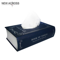 Wholesale Books Tissue Box - Wholesale- Gohide 1pcs Books Tissue Pumping Seat Type Removable Tissue Boxes White And Black Plastic Napkin Paper Box Table Decoration