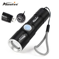 AoneFire X200 3Mode Tactical Flash Light Torch Mini Zoom Rechargeable Puissant USB LED Lanterne AC Lanterna Pour Voyage en plein air