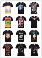 Wholesale High End T Shirts - 2017 summer new high-end men's brand t-shirt fashion Casual short-sleeved animal prints short sleeve elves printing Men's woman t shirt Tops