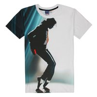 Wholesale Sing Pictures - Michael Jackson Printed T Shirts for Men Dancing Singing Men Tee Shirt 3D Print Picture Shirt