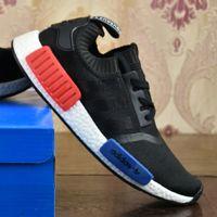 Wholesale Cheap Sport Fashion - 2017 Adidas Originals Cheap High Quality Mesh Men's NMD Runner PK Primeknit Shoes Fashion NMD Sports Running Cheap Women Shoes With Box