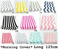 Wholesale Yellow Apron Wholesale - 11COLORS Nursing Cover Mother Breast Feeding 95% cotton Maternity Nursing Apron Breastfeeding Covers Yellow Pink Chevron Nursing Cover