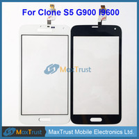 """Wholesale Apple Iphone Clone - Wholesale- Top Quality 5.0"""" For China Clone S5 NB022-FPCV4-6306-01 Touch Screen Digitizer Front Glass Panel Sensor Black White Color"""