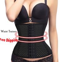 Wholesale Breathing Trainer - Hot Body Shaper Binder Breathe Waist Trainer Women Slimming Waist Tummy Belt Waist Cincher Underbust Corset Plus Size S-6XL