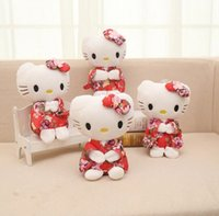 ingrosso anime orso di orsacchiotto-Cartoon Kawaii Peluche Anime Cute Hello Kitty Peluche per bambini Studenti Giocattoli Morbido Teddy Bears peluche regali decorativi