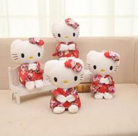 presentes para miúdos olá vaquinha venda por atacado-Kawaii dos desenhos animados Animais De Pelúcia Anime Bonito Olá Kitty Brinquedo de Pelúcia Crianças Estudantes Brinquedos Macios Decorativos Ursos de Pelúcia Brinquedo De Pelúcia presentes