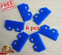 Wholesale Mimaki Solvent - Wholesale- 6pcs Blue Solvent Wiper Tintenabstreifer Mimaki JV3 JV33 JV5 Roland Mutoh for Epson DX5 +2 pcs Cotton Swab Gift