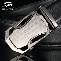 Wholesale Leather Cowhide Strap Wholesale - Wholesale- DINISITON Men Belts Automatic buckle Belt cowhide Leather Strap Designer Quality metal Belts Men High Luxury Jeans Waistband