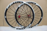 Wholesale Carbon Alloy Road Wheels 38mm - Factory price carbon wheels 700c bicycle wheels aluminum alloy brake surface 38mm carbon road wheels clincher with red powerway R13 hubs