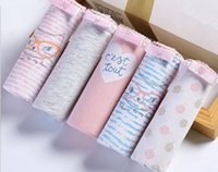 Wholesale 95 Cotton Spandex Underwear - High Quality Women Panties New Multicolors 95%Cotton+5%Spandex Underwear Printing Floral Playful Type briefs