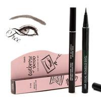 Wholesale Makeup Eye Pen - Wholesale- 1Pc Waterproof Brown 7 Days Eye Brow Eyebrow Tattoo Pen Liner Long Lasting Makeup Women Gifts High Quality Eyebrow Liner