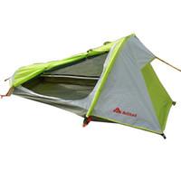 tek kamp çadırları toptan satış-Açık Çadır Kamp Tek Kişi Su Geçirmez Çift Katmanlı Yürüyüş Çadır Ultralight 1 Adam Taşınabilir Tek Sırt Çantasıyla Çadır