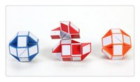 Wholesale cube jigsaw - factory wholesale toys Intelligence toys Blue  Red Snake Magic Cube Twist Jigsaw Puzzle Magic Ruler 3D Snake Toys Gifts