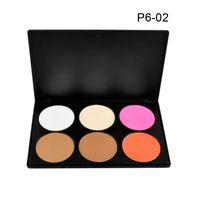 mejor paleta de base al por mayor-6 colores maquillaje corrector blush ajuste de contorno conjunto polvos para la cara base de maquillaje paleta de maquillaje Comestics corrector DHL nave