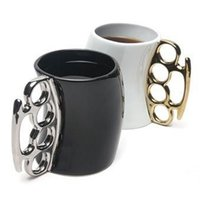 Wholesale Stainless Steel Ceramic Coffee Mugs - Creative Fist Cup Boxing Coffee Cups Personality Mug Ceramic Factory Direct New Arrival Individual Ring Handle 10 8zf