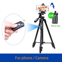Wholesale smartphone mi - 43-125cm Lightweight Mobile Phone Selfie Tripod With Bluetooth Remote for Camera iPhone 7 6s Plus Samsung Mi Android Smartphone MOQ:1Pcs
