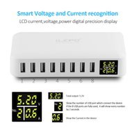 Wholesale Mobile Power Station Blackberry - LCD Display USB Charger Station with 8 ports Portable Home Chargers Fast Charging Usb Power Adapter Charger for iphone mobile phones