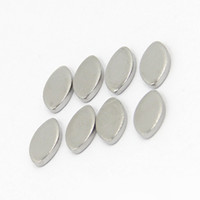 Wholesale Wholesale Jewelry Metal Stamps - Free Shipping 10pcs lot Water Drop Stainless Steel Metal Stamping Blank Tags Pendants Charms For DIY Necklace Bracelet Jewelry Making 10*6mm