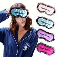 Soft Sleeping Nap Eye Maschera Occhiata Regolabile EyeShade Copricapo Blindfold Travel Rest EyePatch Blinder Satin Ombra Ombra Healthcare