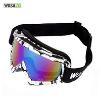 Wholesale Wolfbike Masks - Wholesale- WOLFBIKE Ski Goggles UV400 Anti-fog Eyewear Big Ski Mask Glasses Skiing Men Women Snow Snowboard Goggles Thick Sponge Inside*