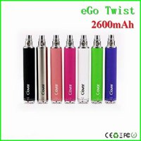 Wholesale Ego Battery Best Quality - Best quality vape battery Clover Overlord big capacity 2600mah ego twist vape battery 3.3~4.8V 510 ego battery