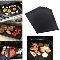 Wholesale Barbecue Charcoal - BBQ Grill Mat Magic Mats Non Stick Grilling Backing Outdoor Plate Portable Easy Clean Outdoor Picnic Cooking Tool 40x33cm