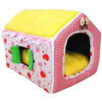Wholesale princess style bedding for sale - Group buy Pink Yellow Color Princess Style Pet House Soft Dog Kennel Winter Use Cat Application Pet Bed