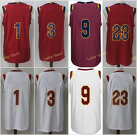 Wholesale Tiger Sleeveless - Mens 2017-18 New season jerseys 23 LeBron James 9 Dwyane Wade 1 Derrick Rose 3 Isaiah Thomas Red White 100% Stitched College Memphis Tigers