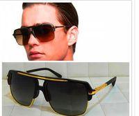 Wholesale 24k Gold Designer - men designer sunglasses four titanium sunglasses 24K gold plated vintage retro style semi frame UV400 lens original case