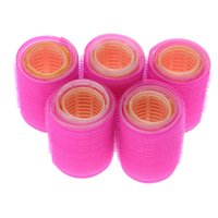 Wholesale Diy Magic Curler Roller - hair rollers large 15pcs lot Hairdressing Home Use DIY Magic Large Self-Adhesive Hair Rollers Styling Roller Roll Curler Beauty Tool 3 Size