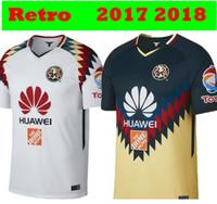 bdb344aaf Hot Sale 2017 2018 MX Club America Home Away Yellow White Soccer Jerseys 17  18 America Retro 1995 1999 Commemorative 100Years Football Shirt
