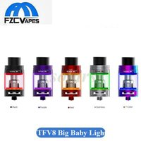 Wholesale Atomizers Led - Authentic SMOK TFV8 Big Baby Tank Light Edition 5 Colors with Bottom Changeable LED Sub Ohm Atomizer vs Sigelei Meteor 100% Original