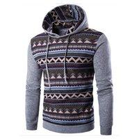 Wholesale Ethnic Sweatshirt - Wholesale- 2016 Fashion Hoodie Men Patchwork Stitching Raglan Sleeve Ethnic Style Hoodies Casual Male Sweatshirt Tracksuits Masculino